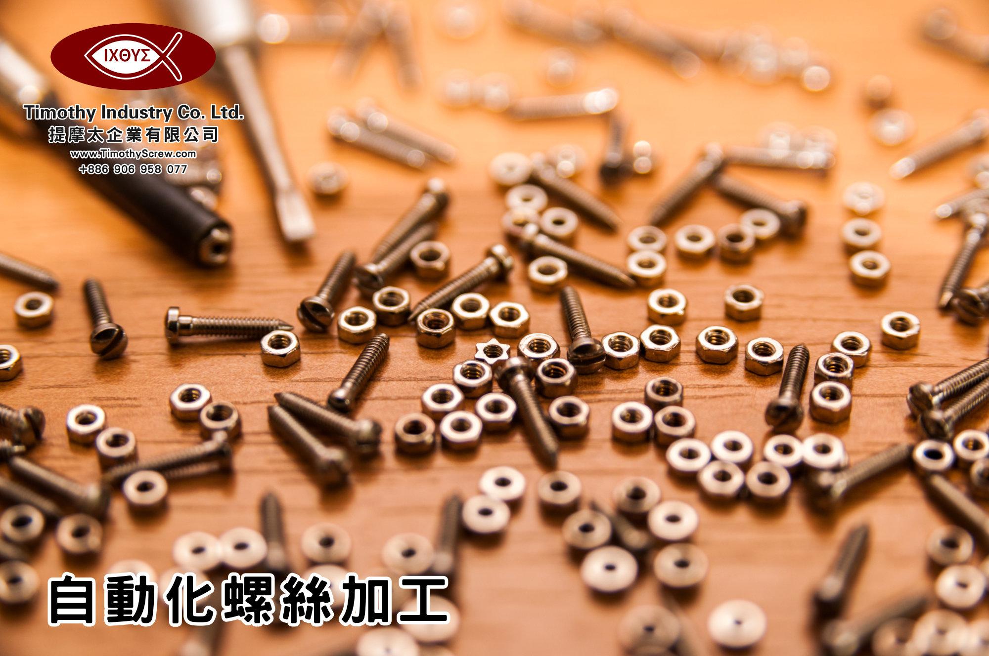 提摩太企業有限公司 Timothy Industry Co Ltd 自動化螺絲加工 車床部 銑床部 台灣自動化螺絲加工 螺絲製造 A15
