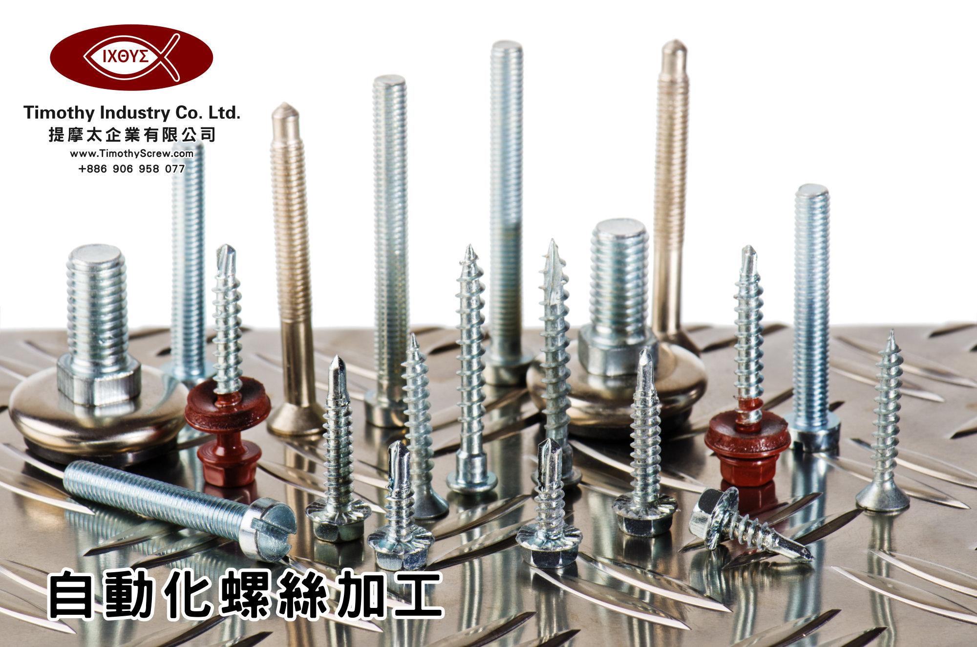 提摩太企業有限公司 Timothy Industry Co Ltd 自動化螺絲加工 車床部 銑床部 台灣自動化螺絲加工 螺絲製造 A25