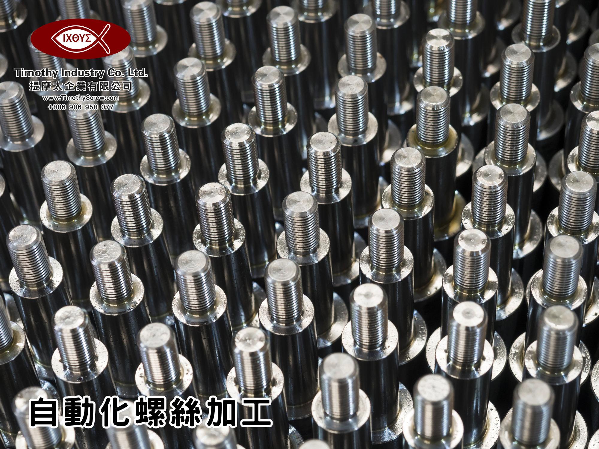 提摩太企業有限公司 Timothy Industry Co Ltd 自動化螺絲加工 車床部 銑床部 台灣自動化螺絲加工 螺絲製造 A08